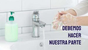 lavate las manos frecuentemente